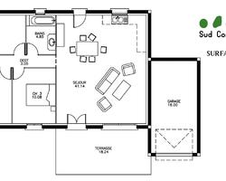 Modèle Rectangle - Rdc de 80 m² : 89 900 € T.T.C.
