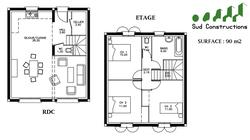 Modèle Etage de 90 m²