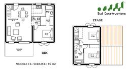 Modèle 85 m² avec suite parentale : 98 900 € T.T.C.
