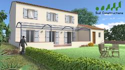 Modèle Bastide de 130 m² : 129 990 € T.T.C.
