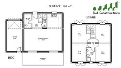 Modèle Etage de 101 m²