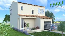 Modèle maison étage avec garage intégré